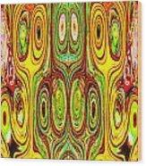 Woodcraft Ghosts Spirits Indian Native Aboriginal Masks Motif Symbol Emblem Ethnic Rituals Display H Wood Print