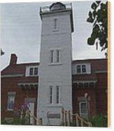 40 Mile Point Lighthouse Wood Print