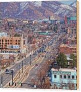 400 S Salt Lake City Wood Print