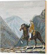 410 Peruvian Mountain Trail Wood Print