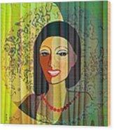 416 - Lady With Nice Teeth Wood Print