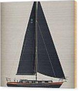 42 Black Sails Wood Print