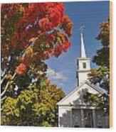 Lunenburg, Ma - Fall Foliage Wood Print