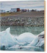 Iceland, Ice & Fire Wood Print