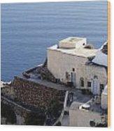 Views Of Santorini Greece Wood Print