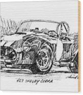 427 Shelby Cobra Wood Print by David Lloyd Glover