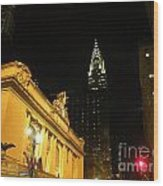 42nd Street Night Wood Print