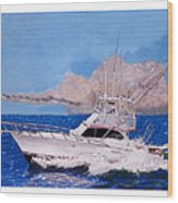 Storm Chasing On The High Seas Wood Print