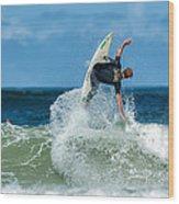 Surfing Fun Wood Print