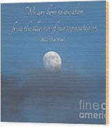 43- Thich Nhat Hanh Wood Print