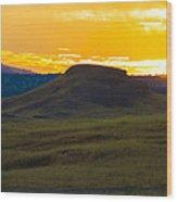430 Am Sun Rise Wood Print