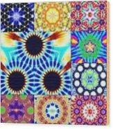 432hz Cymatics Grid Wood Print