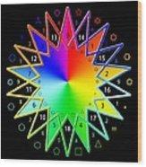 432hz Rainbow Star Wood Print
