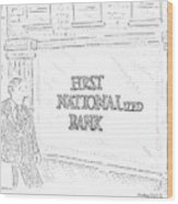 First Nationalized Bank Wood Print