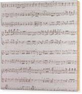 Handwritten Sheet Music, Music Notes Wood Print