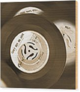 45 Rpm Records Wood Print
