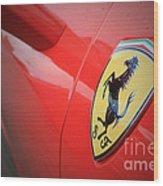 458 Red Wood Print