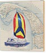 39 Foot Beneteau Cape Cod Chart Art Wood Print