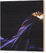 #4729  Amber Blues Wood Print