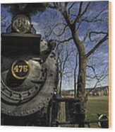 #475 Steam Engine On The Strasburg Rr 04 Wood Print