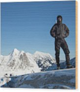 Mountaineering Wood Print
