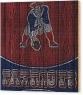 New England Patriots Wood Print by Joe Hamilton