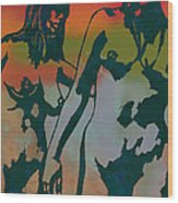 Nude Pop Stylised Art Poster Wood Print