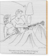 How Many Verses Of 'froggie Went A-courting' Wood Print