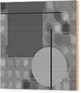 48th Shade Of Gray Wood Print