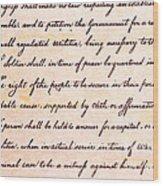 4th Amendment  Wood Print by Jim Pruitt