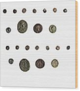 4th Century Bce Coin Wood Print by Science Photo Library