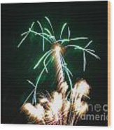 4th Of July 2014 Fireworks Bridgeport Hill Clarksburg Wv 2 Wood Print by Howard Tenke