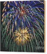 4th Of July 2014 Fireworks Mannington Wv 1 Wood Print