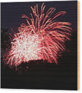 4th Of July Fireworks - 011311 Wood Print