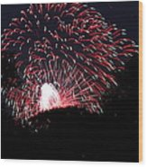 4th Of July Fireworks - 011312 Wood Print by DC Photographer