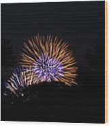 4th Of July Fireworks - 011315 Wood Print by DC Photographer