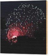 4th Of July Fireworks - 011316 Wood Print
