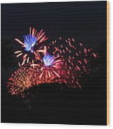 4th Of July Fireworks - 011319 Wood Print