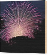 4th Of July Fireworks - 01132 Wood Print