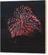 4th Of July Fireworks - 011321 Wood Print by DC Photographer