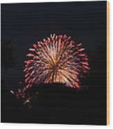 4th Of July Fireworks - 011322 Wood Print
