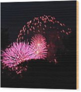 4th Of July Fireworks - 011325 Wood Print