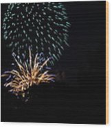 4th Of July Fireworks - 011330 Wood Print