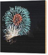 4th Of July Fireworks - 011331 Wood Print by DC Photographer