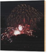 4th Of July Fireworks - 011333 Wood Print