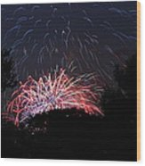 4th Of July Fireworks - 01135 Wood Print by DC Photographer