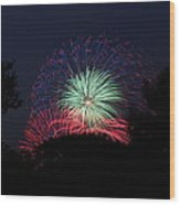 4th Of July Fireworks - 01137 Wood Print