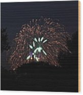 4th Of July Fireworks - 01138 Wood Print