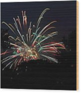 4th Of July Fireworks - 01139 Wood Print by DC Photographer