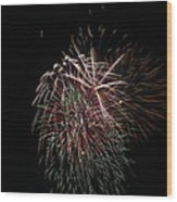 4th Of July Fireworks Wood Print